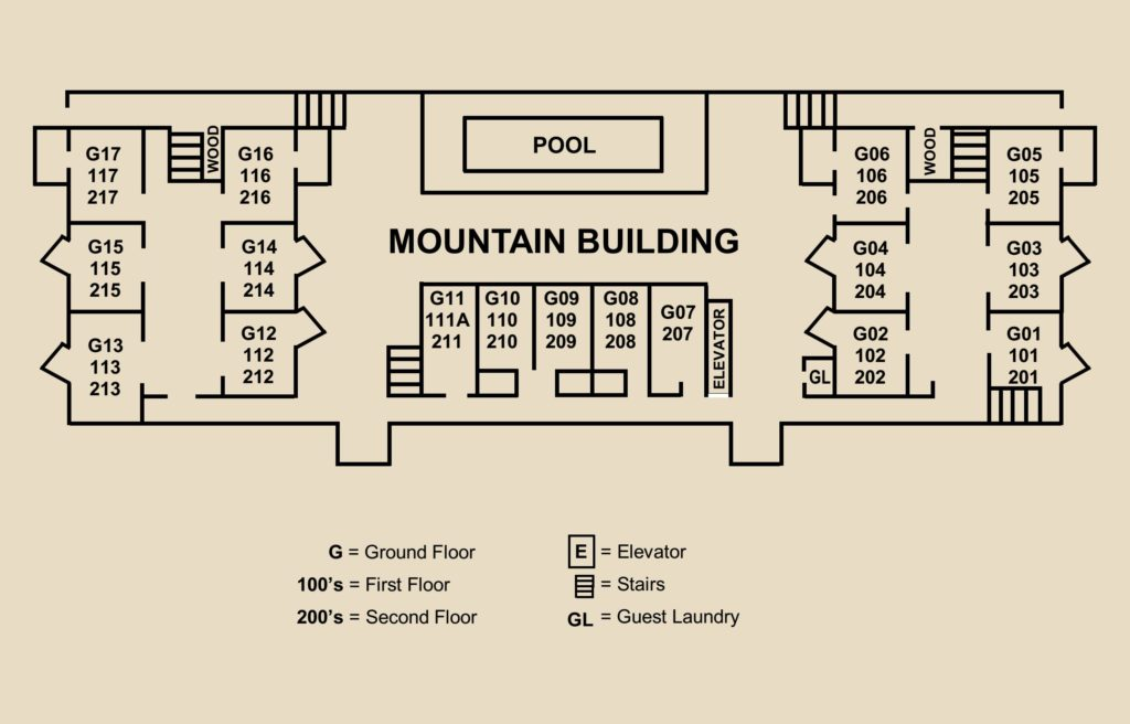 Mountain Building Floor Plan Diagram